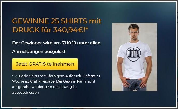 Gewinnspiel für T-Shirt Druck von Shirtfabrik24